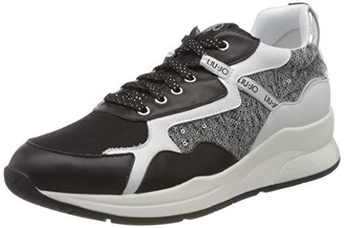 Liu Jo Shoes Damen Karlie 35 Sneaker, Schwarz (Black 22222), 38 EU