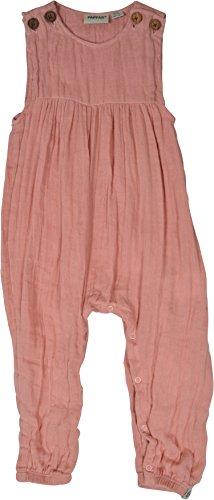 Papfar Baby-Mädchen Woven Latzhose, Rosa (Dusty Rose 519), 98 (Herstellergröße: 3y)