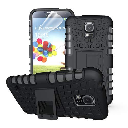 betterfon | Outdoor Handy Tasche Hybrid Hülle Schutz Hülle Panzer TPU Silikon Hard Cover Bumper für Samsung Galaxy S5 / S5 Neo Schwarz