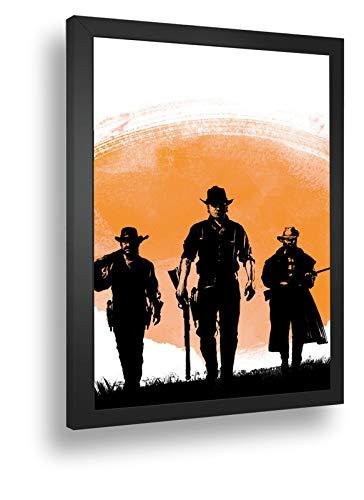 Quadro Decorativo Poste Red Dead Redemption 2 Classico