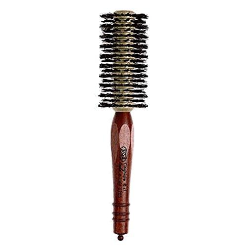 3 vE Progress 2203 – Brosse pour Cheveux avec Manche en Bois avec décoration et poils en sanglier renforcé, diamètre 50 mm