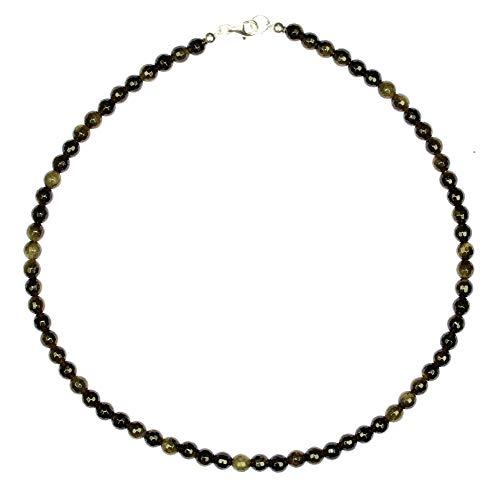 Bronieten sieraden (halsketting) bronzen ketting bolletjes gefacetteerd grootte ca. 6 mm sluiting 925 sterling zilver modelnummer 4395