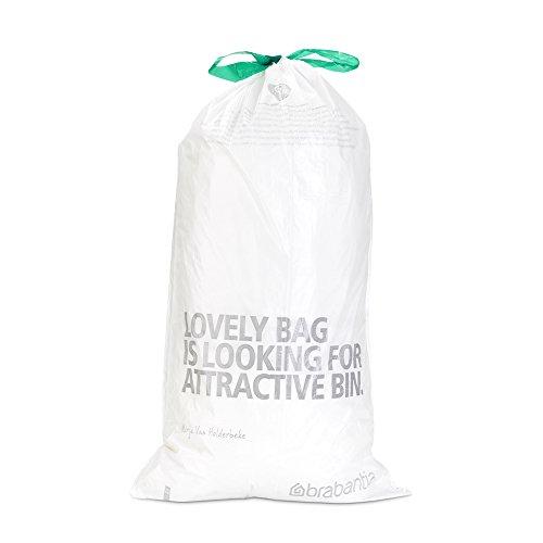 Brabantia Trash Bags, Size G, 6-8 Gallon / 23-30 Liter, 6-8 Gal. / G, White