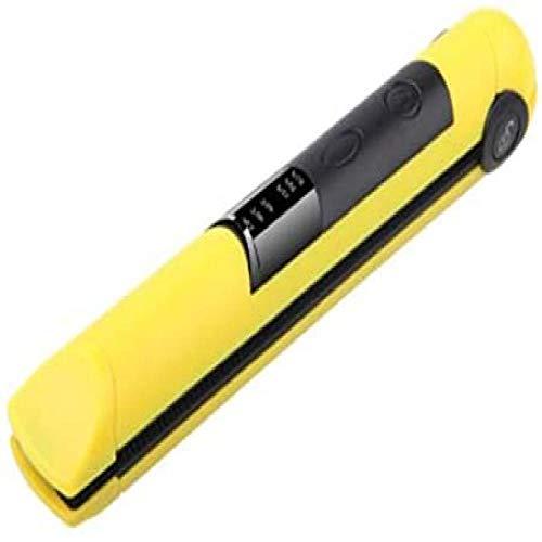 Haarstijltang krultang 2-in-1 Travel stijltang USB-oplaadbare negatieve haarverzorging draagbare strijkijzer voor alle haartypes, roségeel