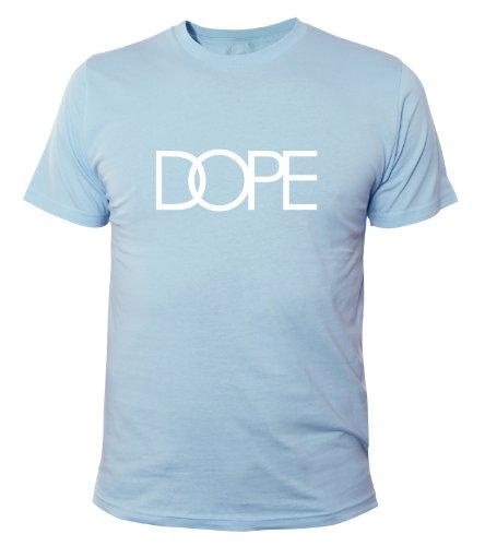 Mister Merchandise Homme Cool Chemise T-Shirt DOPE , Size: XXL, Color: Bleu Clair