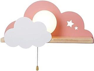 AKBOY Lampara de Pared Infantil Nube Aplique Pared Infantil Noche la luz Fiesta Lámpara de Habitación de Niños LED Con Interruptor, Luz de Pared Dormitorio Interior para NiñOs JardíN de Infantes