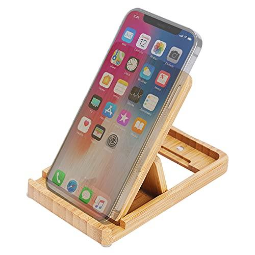 MY FAT GORILLA Soporte de bambú para teléfono móvil y iPad ajustable y soporte de madera