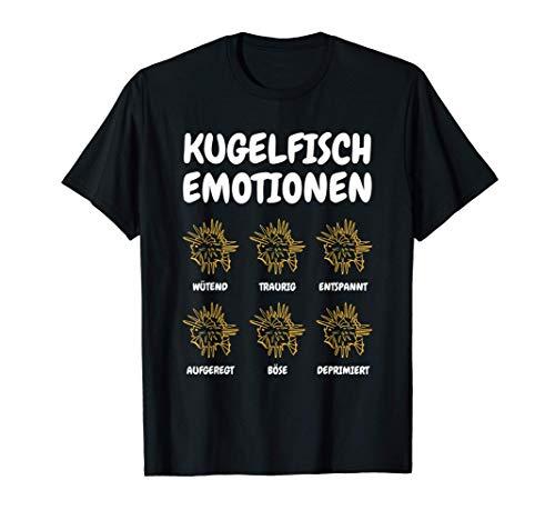 Kugelfisch Emotionen Meerestiere Aquaristik Aquarium T-Shirt