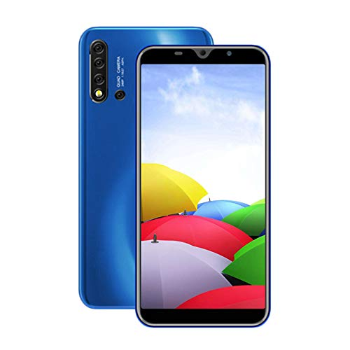 Unlocked Cell Phones, 5i 3G(WCDMA:850/2100MHZ) Android Smartphone, 5.5-inch IPS Full-Screen, Dual SIM, 1GB RAM 8GB ROM, MTK6580 Quad Core, 4800mAh, Internal Battery (Apply to T-Mobile) Blue