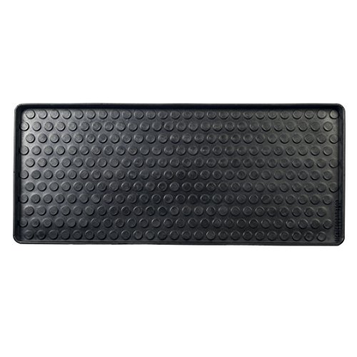 Tica Copenhagen - Fußmatte, Schuhabtropfschale - Shoe and Boot Tray - Muster: Dots - Gummi - 88 x 38 x 3 cm