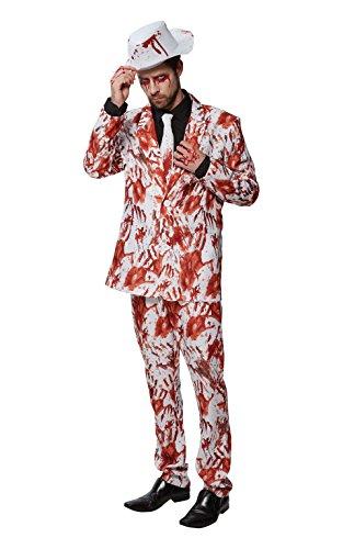 Rubie's officiële bloedige handen pak Halloween Halloween kostuum, Zombie Gangster Suit, Mens Size Medium