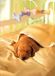Puppy in Crib With Mobile - Dog New Pet Card