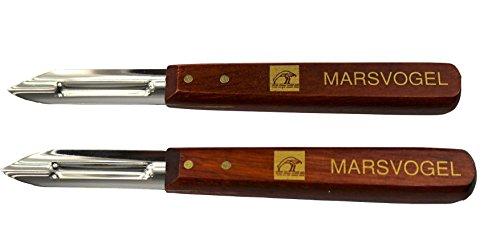 2 x pommes de terre à éplucher Couteau, éplucheur, éplucheur, de 2 30,0, manche en bois, Mars Oiseaux Solingen