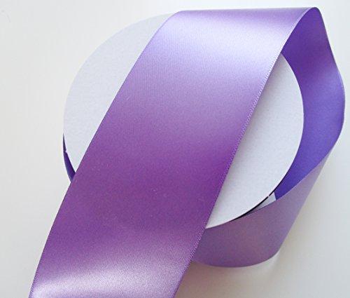 CaPiSo 25 m Satin Ruban 50 mm de Large: Violet Clair