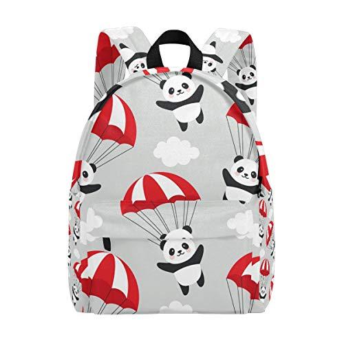 Animal Panda mit Fallschirm-Rucksack, Buchtasche, für Teenager, Studenten, Mädchen, Damen, College-Rucksack