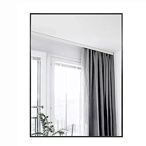 zcyg Espejo baño Espejos Pared Mirror Espejos De Baño Espejos Rectangulares De Cristal Metal Enmarcado Espejo De Pared HD Espejo Colgante para El Dormitorio De Vanidad, Negro(Size:40 * 60cm)