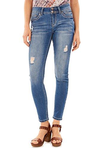 WallFlower Juniors Luscious Curvy Skinny Jeans in Margot, 7