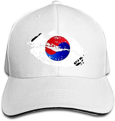 ZYZYY, berretto da baseball unisex con bandiera coreana e labbra, regolabile