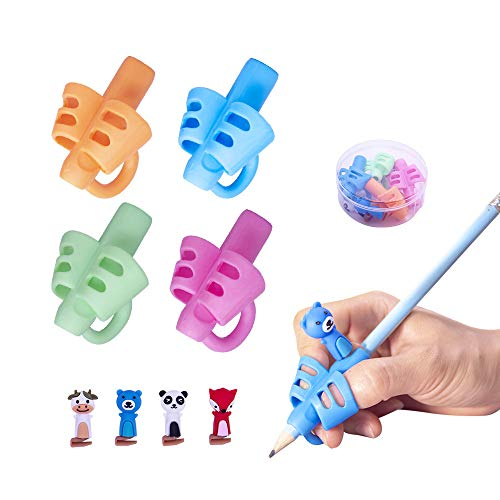 Letdrowy - Pencil Grips for Kids Handwriting, Writing Aids for Preschoolers ,Kids Writing Helpers, Ergonomic Training Pen Grip Posture Correction Tool for Kids.(8PCS)