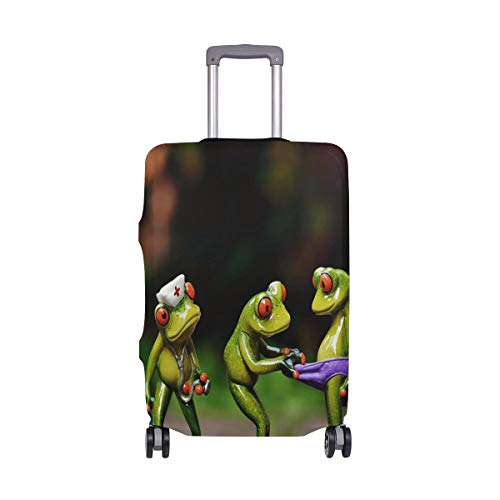 ALINLO Funny Frog Luggage Cover Baggage Suitcase Travel Protector Fit for 18-32 Inch