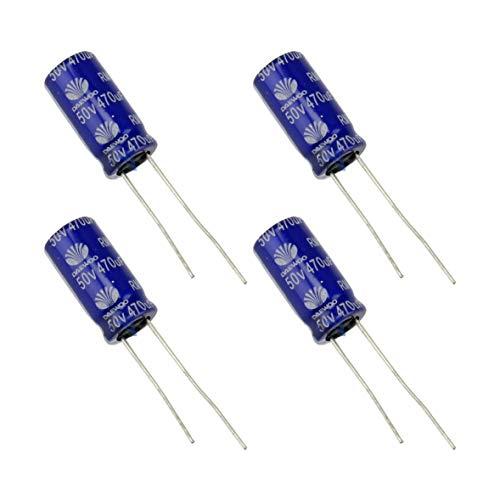 4 pcs 470uF 50V Condensatore Elettrolitico DAEWOO -40°C +85°C Long-Life Standard Terminali THT Radiali Condensatori Elettrolitici