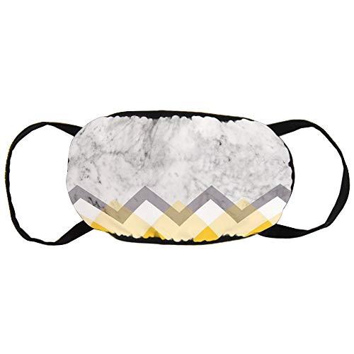 Stofvervuilingsmasker, mosterd en marmer grafisch, zwart oor puur katoen masker, geschikt voor mannen en vrouwen maskers