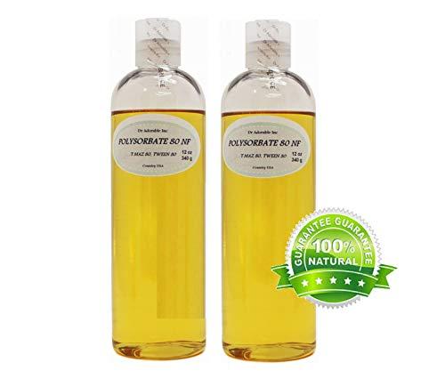 Pure Polysorbate 80 T MAZ 80, Tween 80 24 Oz