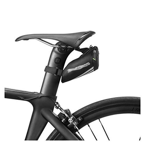 Jybhsh Shell Bolsa de Bicicleta a Prueba de Lluvia 3D Bolsa de sillín de la Bicicleta a Prueba de Golpes Reflectante Bolsa Riding Tija de sillín Trasero Bolsa for Bicicletas MTB Accesorios Accesorios