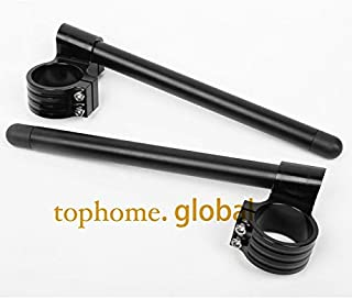 Wincom Dishman Frames & Fittings CNC 41Mm Riser Clip-Ons Handlebars Lift Handle Bar Fork Tube One Pair Black/Gold/Silver Motorcycle Hand Bar Clip Ons Clipon - (Color: Black)