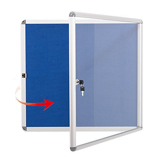 Swansea Schaukasten Abschliessbar Innen 6X4A, Infokasten Aushangtafel mit Stoff Brett, Alu Rahmen, Acrylglas