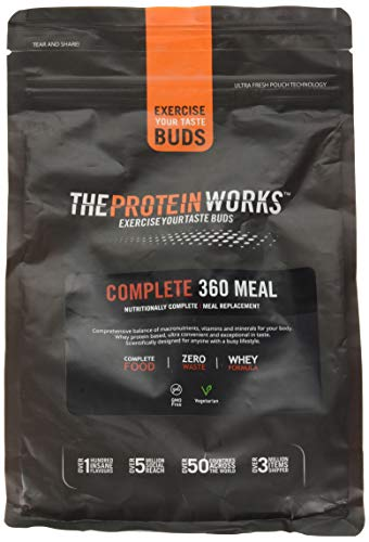 The Protein Works Complete 360 Meal Nutritionally Balanced Quick & Affordable Double Milk Chocolate, 1 kg