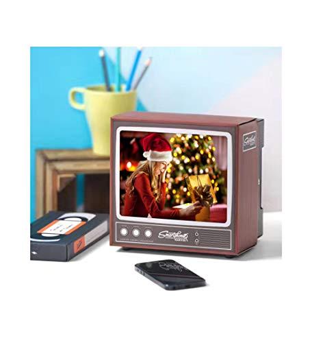 LUCKLY Telefon Bildschirm Lupe Retro TV Bildschirm Verstärker Telefon Halter für Handy Universal DIY 3D HD Video Telefon Bildschirm Lupe Telefon Halter Ständer
