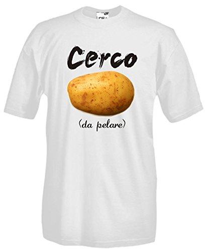 Settantallora - T-Shirt Maglietta J760 Cerco Patata da pelare Taglia L