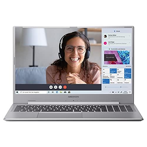 MEDION P17609 43,9 cm (17,3 Zoll) Full HD Notebook (Intel Core i7-1165G7 Prozessor, 16GB DDR4 RAM, 512GB M.2 PCIe SSD, 1,5TB HDD, NVIDIA GeForce MX450, HD Webcam, Win 10 Home)