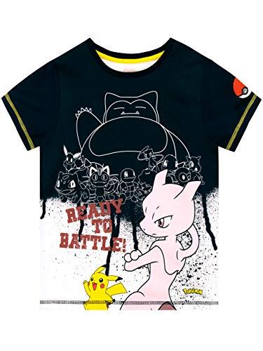 Pokèmon Camiseta de Manga Corta para niños Snorlax Azul 6-7 Años