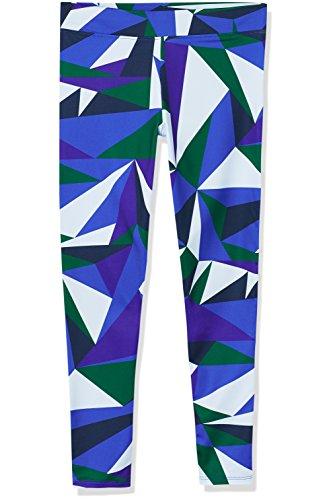 Amazon-Marke: RED WAGON Mädchen Sport Leggings mit geometrischem Muster, Blau (Abstract Print Blue), 116, Label:6 Years