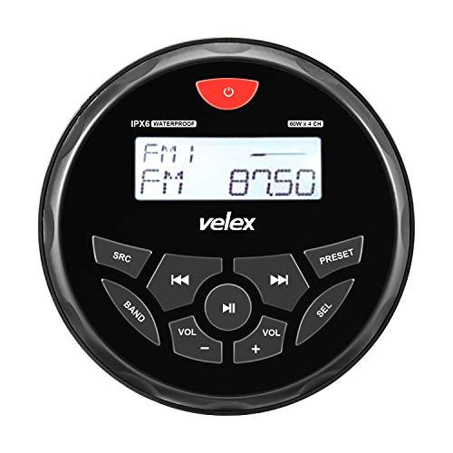 Receptor estéreo con Bluetooth, Resistente al Agua, con Reproductor de MP3 en la Radio Am/FM y USB para Streaming de música en Barcos, Golf, Carteras, ATV, UTV y SPA Hot Tubs