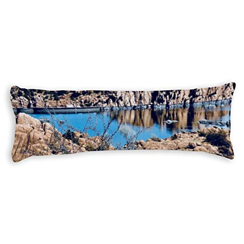 Tamengi Body Pillow Cover,Watson Lake Custom Pillow pattern, Long Pillowcase with Zipper Closure, Bedding Bedroom Decor Home Gift