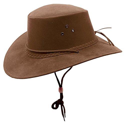 Kakadu The Soaka Chapeau de soleil d'été en microfibre légère - Marron - Medium