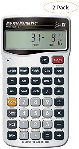 Calculated Industries 4020 Measure Master Pro Feet-Inch-Fraction and Metric Construction Math Calculator