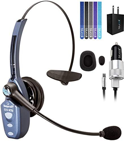 VXI BlueParrott B250 XTS Bluetooth Headset with 91 Noise Cancellation Bundle with Blucoil Micro product image