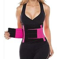 WQADPJ 女性用ウエストトレーナー 女性トリマージムフィットネススポーツボディニッパーは、ベルトのウエストニッパートレーナートリマージムボディ下着ボディビルディングシェイパースウェット (Color : Pink, Size : L)