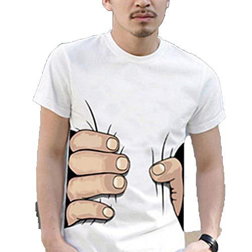 Maglietta a maniche corte in cotone da uomo 3D maglietta per uomo celebre traspirante collo alto T-Shirts Druolo nero abbigliamento XL taglia asiatica 3d Hand Coffee M