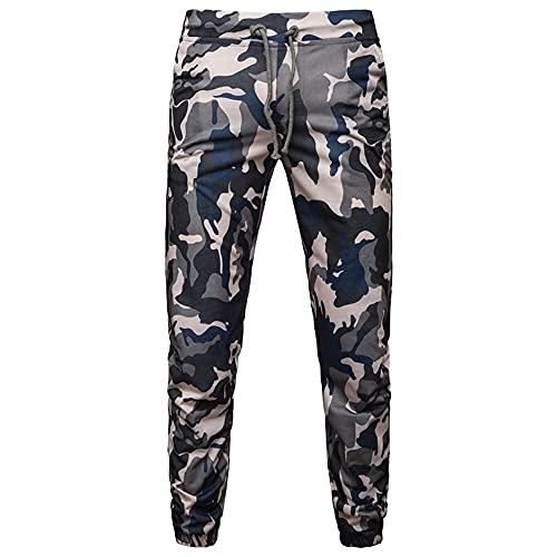 N\P Deporte Camuflaje Hombres Joggers Pantalones De Chándal Bolsillo Con Cordón Camo Pantalones Pantalones