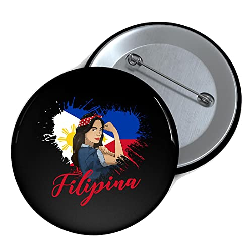 Philippines Pinay Filipina Pride Strong Proud I Idea Pins Decorate Buttons Badges,for Clothes Hats Bags
