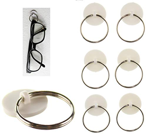 SticknHang 6-Pak 3M Adhesive Sunglass Eye Glass Holder Hanger for Home Wall