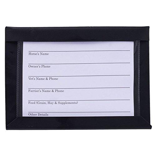 Stall Information Card Holder Black