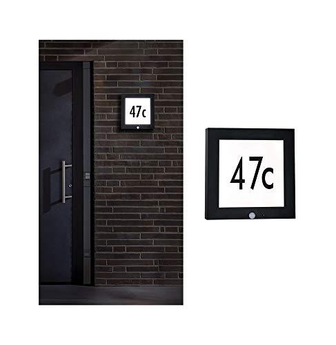 Paulmann 94254 Outdoor Panel LED Außenleuchte eckig incl. 1x9 Watt Anthrazit Aluminium 3000 K Warmweiß, 9 W