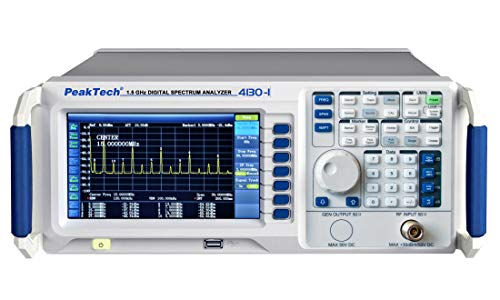 PeakTech P 4130-1 Analizador de espectro de 1,5 GHz ~ con pantalla TFT, LAN/USB