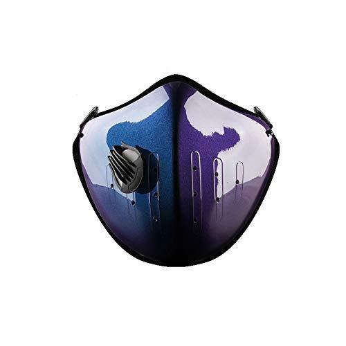 Stofdicht sportmasker geactiveerd koolstof-anti-vervuiling masker met extra filter katoenen plaat en kleppen Set